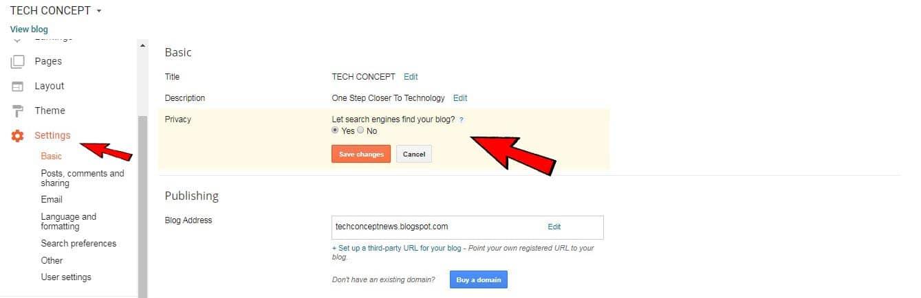blog privacy