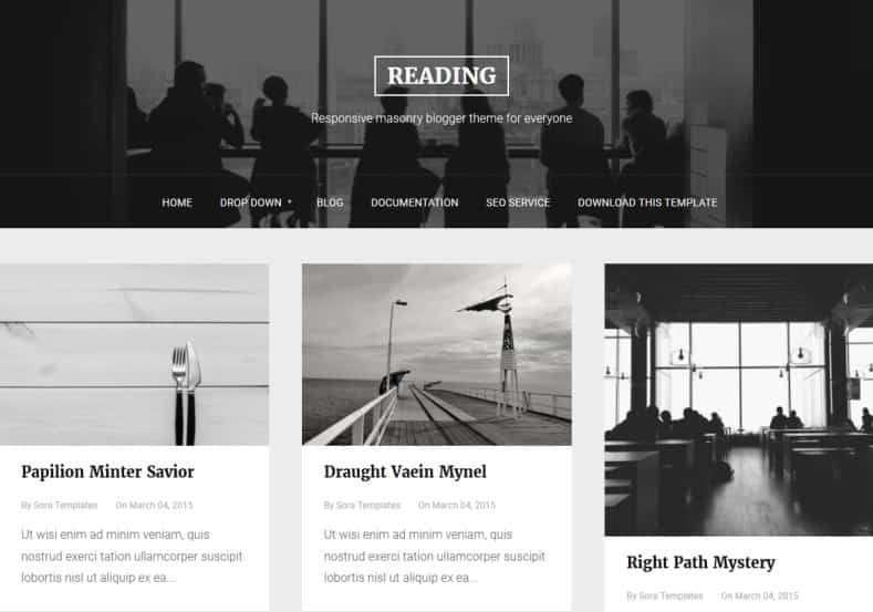Reading-Blogger-Template