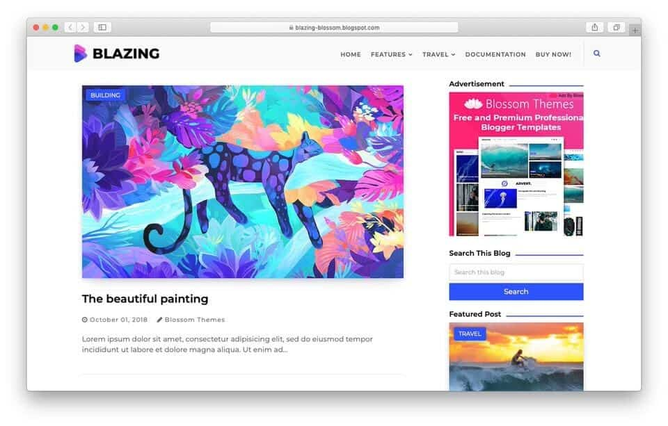 blazing Responsive Blogger Template