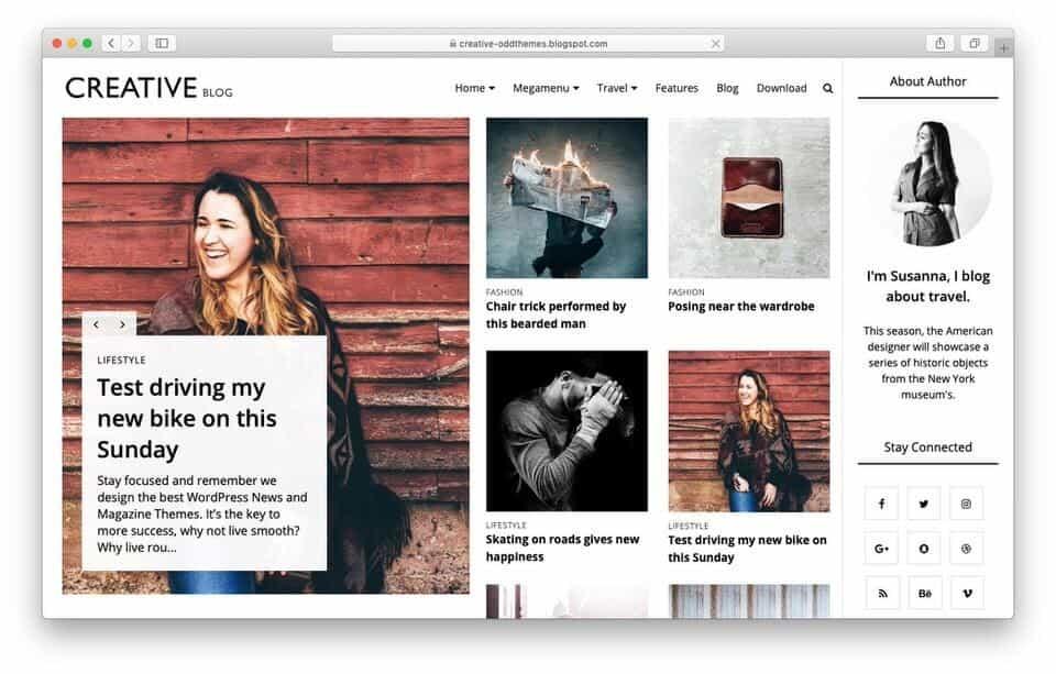creativeblog Responsive Blogger Template