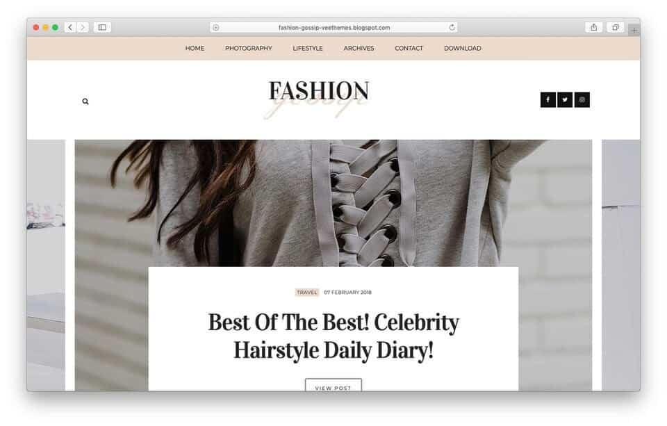 fashiongossip Responsive Blogger Template