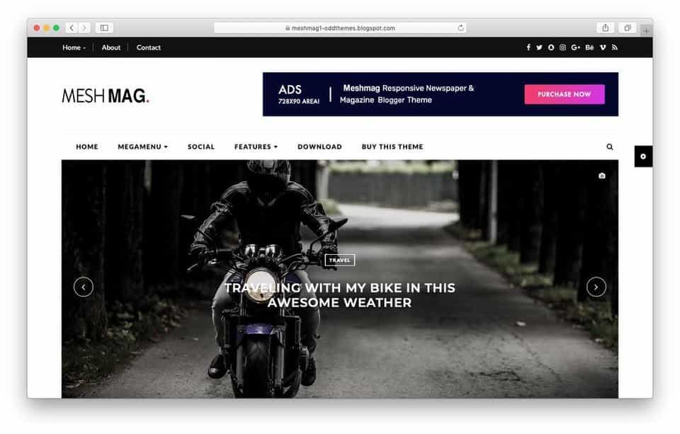 meshmag Responsive Blogger Template