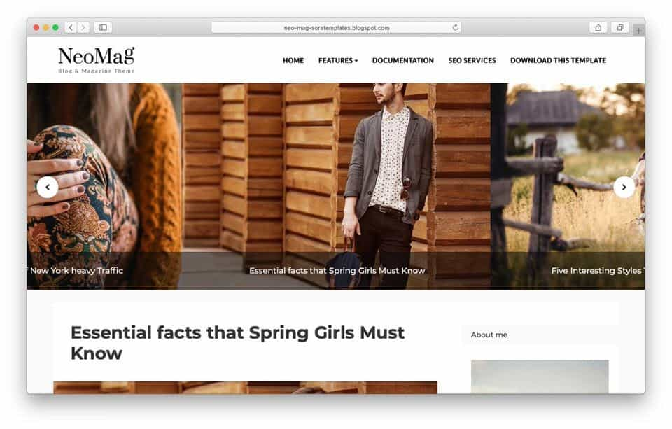 neomag Responsive Blogger Template
