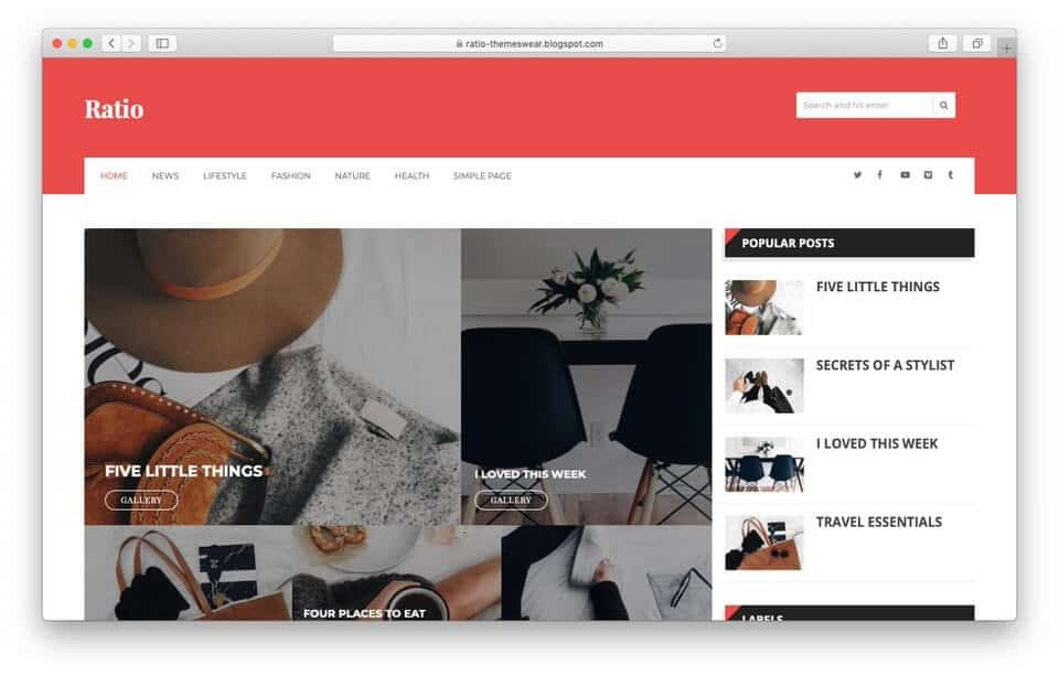 ratio Responsive Blogger Template