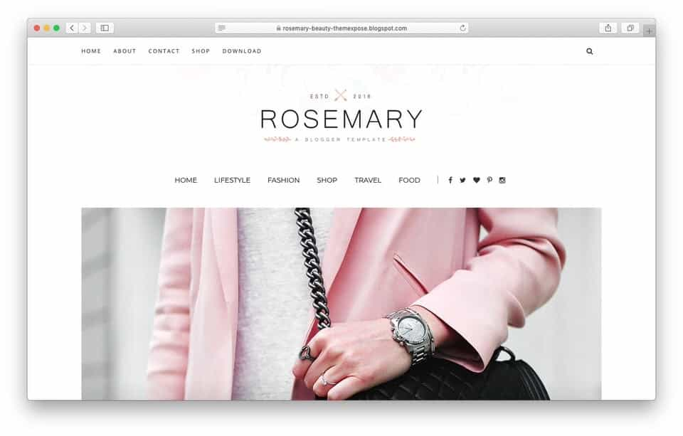 rosemary Responsive Blogger Template