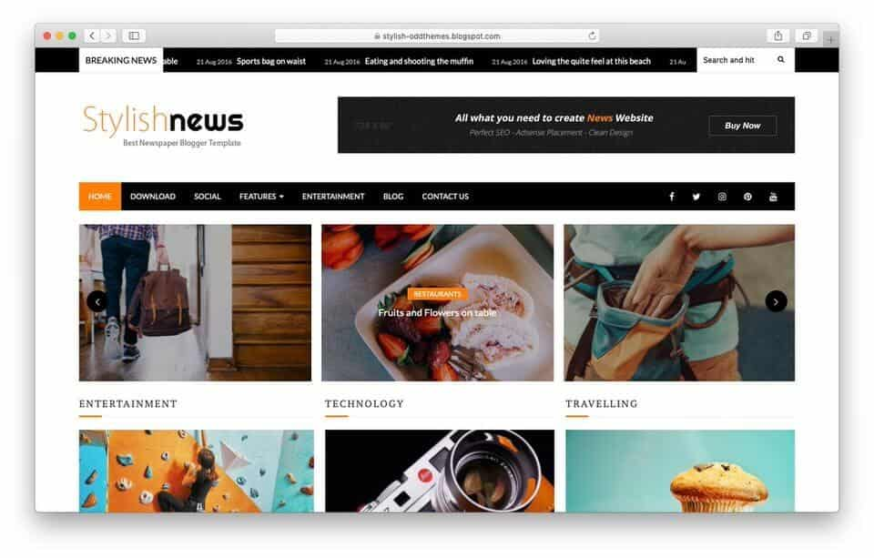 stylishnews Responsive Blogger Template