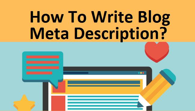 How To write Blog meta Description