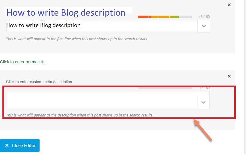 blog post description