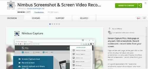 nimbus screenshot