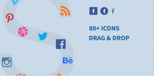 social icon widget by wpzoom