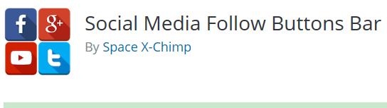 social media follow button bar