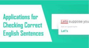 Checking Correct English