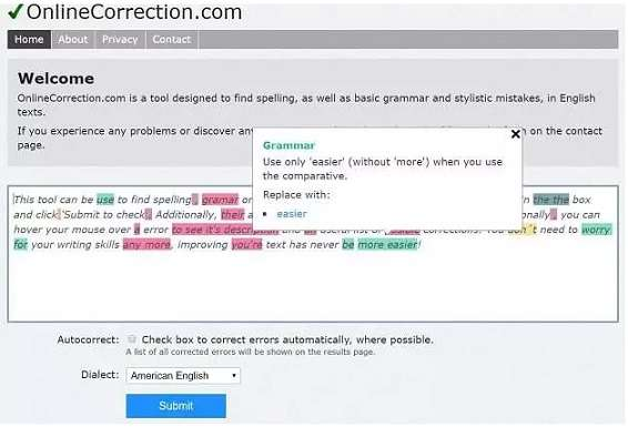 Online Correction